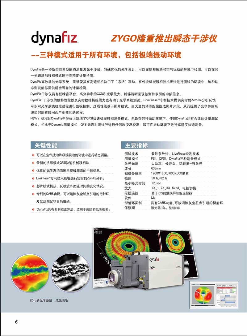 ZYGO激光干涉仪